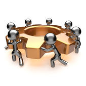 Team work cooperation business process efficiency teamwork concept — Stockfoto