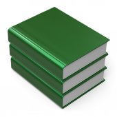 本スタック 3 3 つのブランク カバー緑知識アイコン — ストック写真