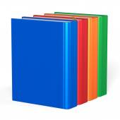 Blank books four textbooks educational bookshelf reading — Photo