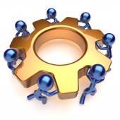 Partnership team work business process workers teamwork — Stock Photo