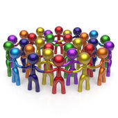 Social network large group people teamwork characters — Stock Photo