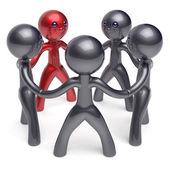 Teamwork circle people social network individuality character — Stock Photo