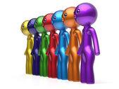 Men characters human resource social network teamwork — Stock Photo