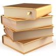 Books golden four 4 textbook stack blank yellow gold icon — Stock Photo #79428898