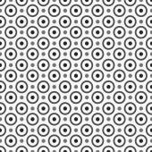 Pattern with circles and dots,seamless vector background. — Vector de stock