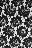 Lace with black flowers — Stock Photo