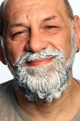 Adult man color beard — Stock Photo