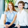 Business woman talking together on work place — Stock Photo #61853107