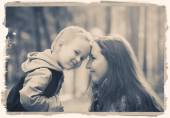 Mother with son in park nature — Stock Photo