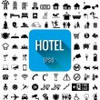 Hotel icon set vector on white background — Stock Vector #61868697