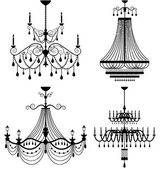 Chandelier lamp vector — Stock Vector
