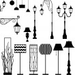 Vintage and modern  lamp vector set — Stock Vector #61875931