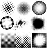 Halftone collection vector on white background — Stock Vector