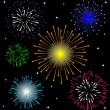 Colorful Firework vector set — Stock Vector #61899967