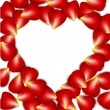 Heart frame from red rose petals — Stock Vector #62746915