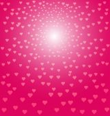 Abstract pink hearts background — Stok Vektör