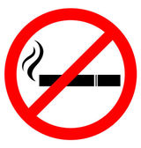 Prohibiting smoking sign — Stock Vector