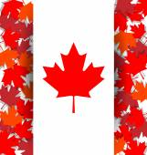 Maple Leaf background for the national day of Canada — Vettoriale Stock