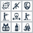 Paintball icons set — Stock Vector #58991603