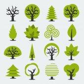绿树一套 — 图库矢量图片