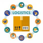 Logistics related infographic — Stock Vector
