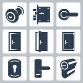 Door and accessory equipment — Stock Vector