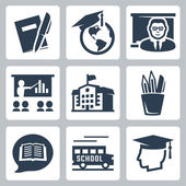 Education related icons set — Stock Vector