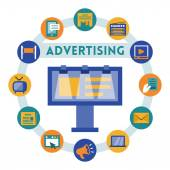 Advertising related infographic — Stock Vector