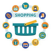 Shopping related infographic — Stock Vector