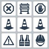 Warning icons set — Stock Vector