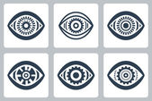 Cyber eyes icons set — Stock Vector
