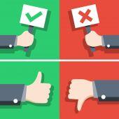 Positivo e o conceito de feedback negativo — Vetor de Stock