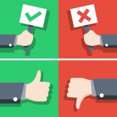 Positive and negative feedback concept — Stock Vector