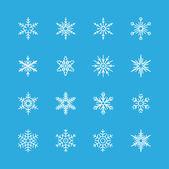Snowflakes icon set — Stock Vector