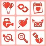 Love icons set — Stock Vector #67125843