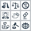Corruption related icons — Stock Vector #67126855