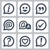Symbols in speech bubbles — Stock Vector