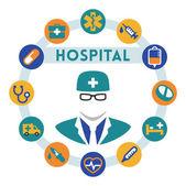 Hospital and doctor infographics — Stockvektor