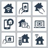 Smart house icon — Stock Vector