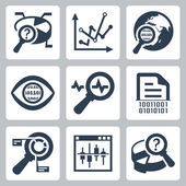 Data analysis icons — Stock Vector