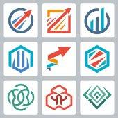 Geometrical logo design — Stock Vector