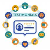Customer service and testimonials — Stock Vector