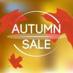 Autumn sale background — Stock Vector #57574201