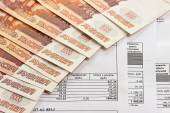 Payment of utilities and Russian money — Stock Photo
