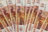 Close-up of russian banknotes — Stock Photo