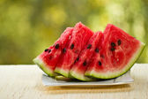 Slices of red watermelon — Stock Photo