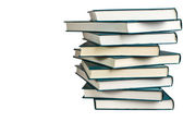 Stack of similar books — Stock Photo