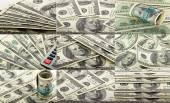 Set of  100 dollars banknotes — Stock Photo
