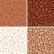 Set - coffee beans brown seamless patterns - vector — Stok Vektör #58886539