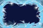 Blue frosty christmas background - vector — Stockvektor